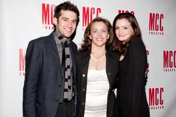 Adam Chandler-Berat, Alice Ripley and Jennifer Damiano at Alice Ripley Opens in MCC's WILD ANIMALS YOU SHOULD KNOW
