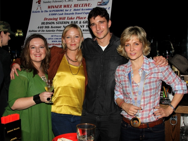 Zuzanna Szadkowski, Kelli Giddish, Jake Silbermann & Amy Carlson'Stockings With Care' Celebrity Bartending Night.Held at Hudson Station Bar & Grill on November 16, 2011.©Steven Bergman at Jesse L. Martin, Benjamin Hickey, et al. at STOCKINGS WITH CARE