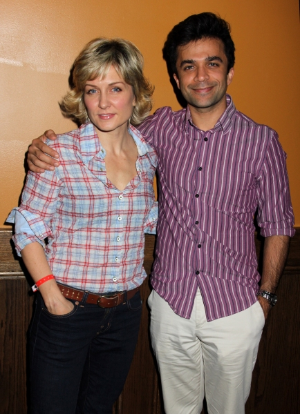 Amy Carlson & Nick Choksi at Jesse L. Martin, Benjamin Hickey, et al. at STOCKINGS WITH CARE