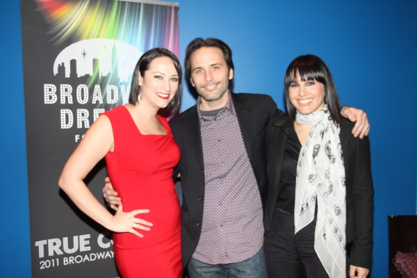 Eden Espinosa, Joseph Abate and Tomasina Abate at Broadway Dreams 3rd Annual Benefit Rocks New York City!