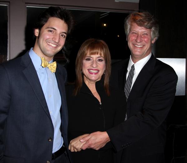 Patti LuPone with her husband Matthew Johnston, son Joshua  Photo