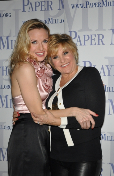 Meredith Patterson and Lorna Luft at WHITE CHRISTMAS at Paper Mill Playhouse Opening Night Party