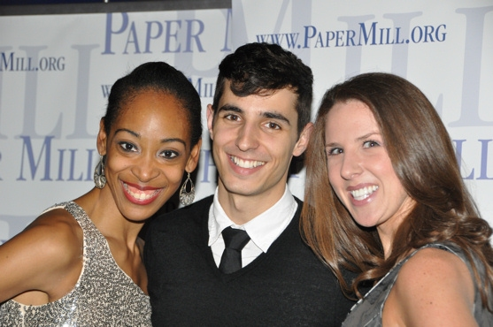 Kristyn Pope, Drew King and Kelly Skidmore  at WHITE CHRISTMAS at Paper Mill Playhouse Opening Night Party