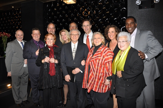 Geoff Cohen (Managing Director of The York Theatre), James Morgan, Philip William McKinley, Marni Nixon, Marin Mazzie, W. David McDoy, Sheldon Harnick, Howard McGillin, Barbara Cook, Karen Ziemba, Marilyn Horne and Norm Lewis at Barbara Cook Honored with York Theatre Company's 2011 Oscar Hammerstein Award