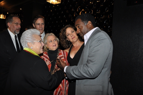 Marilyn Horne, Barbara Cook, Karen Ziemba and Norm Lewis at Barbara Cook Honored with York Theatre Company's 2011 Oscar Hammerstein Award