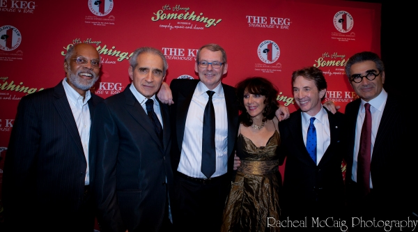 Rudy Webb, Fred Levy, Rick Muller, Andrea Martin, Martin Short and Eugene Levy