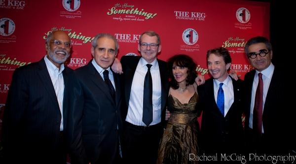Rudy Webb, Fred Levy, Rick Muller, Andrea Martin, Martin Short and Eugene Levy Photo