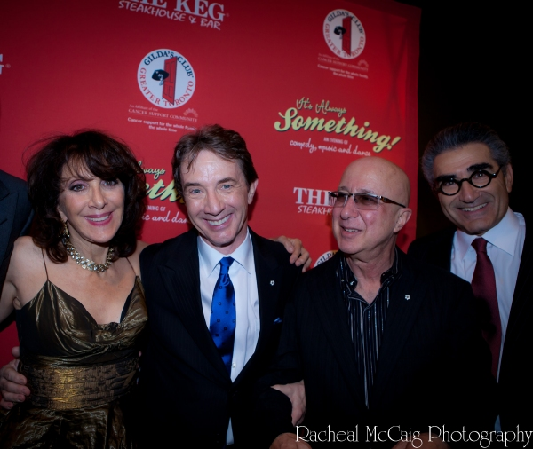 Andrea Martin, Martin Short, Paul Shaffer and Eugene Levy at IT'S ALWAYS SOMETHING Red Carpet