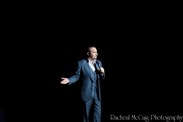 Russell Peters opens the show Photo