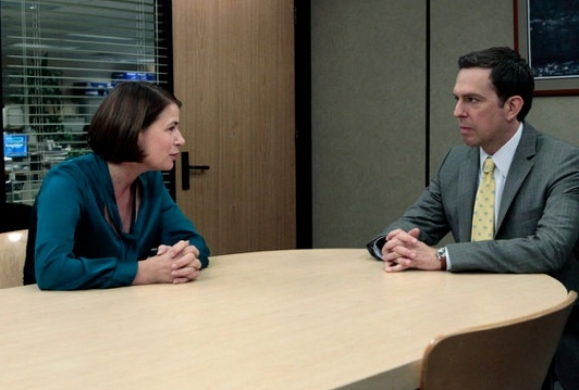 Maura Tierney & Ed Helms at Photo Flash - First Look - Maura Tierney on NBC's THE OFFICE