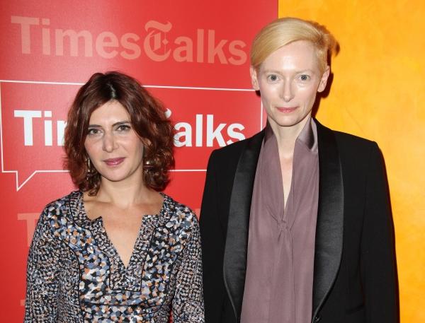 Tilda Swinton &  Melena Ryzik at Tilda Swinton & Gary Oldman Visit TimesTalks