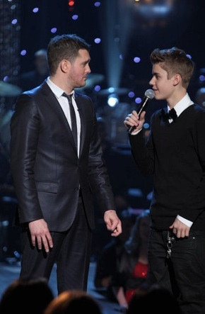 Michael Buble & Justin Bieber at First Look - NBC's A MICHAEL Bublé CHRISTMAS Airing 12/6