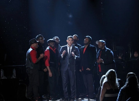 Michael Buble & Naturally 7 at First Look - NBC's A MICHAEL Bublé CHRISTMAS Airing 12/6