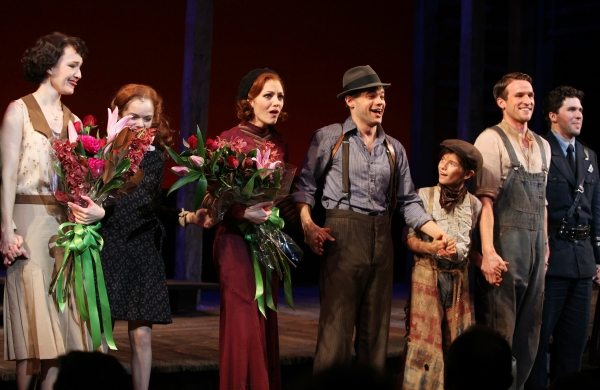 Laura Osnes & Jeremy Jordan with the Company