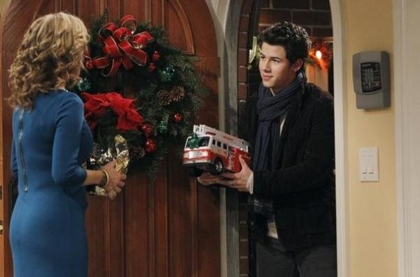 Nancy Travis & Nick Jonas at First Look - Nick Jonas on ABC's LAST MAN STANDING