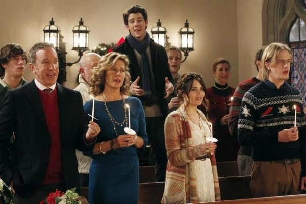 Tim Allen, Nancy Travis, Nick Jonas, Alexandra Krosney, Christoph Sanders at First Look - Nick Jonas on ABC's LAST MAN STANDING