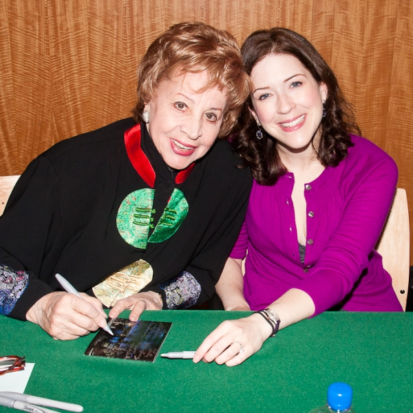 Rosalind Elias and Leah Horowitz at Stephen Sondheim, Bernadette Peters & Stars of FOLLIES Celebrate Cast Album Release at B&N