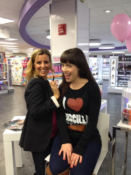 Celebrity makeup artist Erica Whelan and Esther Stilwell