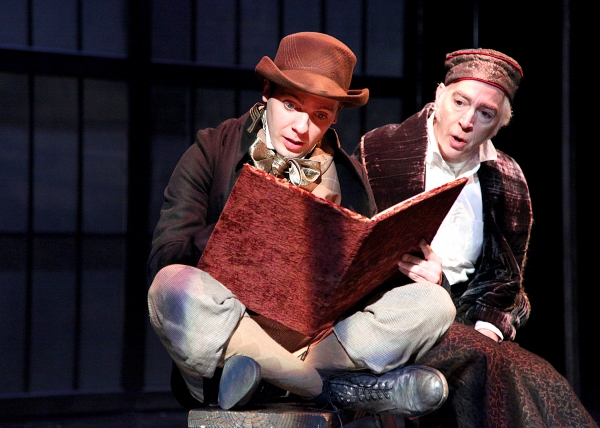 Philip Goodwin and Blake Pfeil at A Christmas Carol at The Shakespeare Theatre of New Jersey