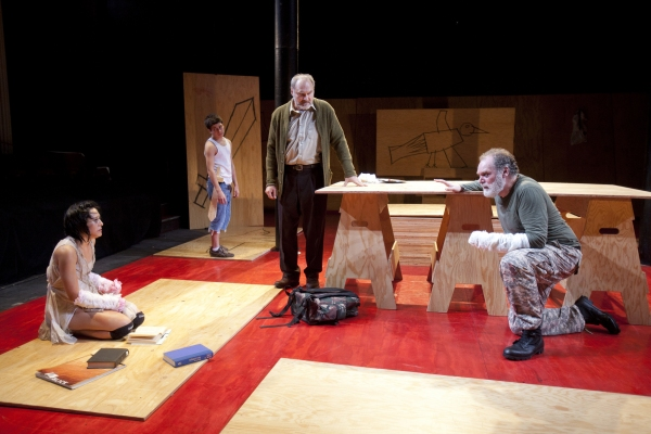 Jennifer Ikeda, Frank Dolce, Sherman Howard, and Jay O. Sanders in TITUS ANDRONICUS,  Photo