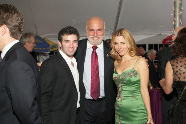 Kerry Butler and Jarrod Spector with Ed Slade