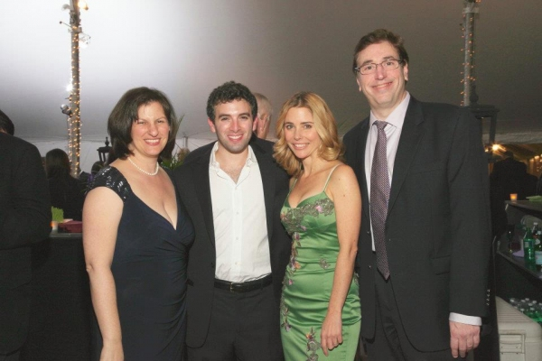 Kerry Butler and Jarrod Spector with Landmark's Executive Director Sharon Maier-Kennelly and RJ Productions' Rich Aronstein