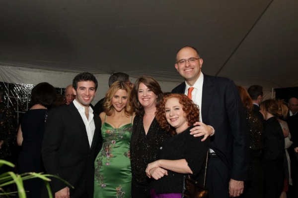 Kerry Butler and Jarrod Spector with Gala Honorees Leslie & Andy Abramowitz with Landmark Co-President Jessica Mann Gutteridge