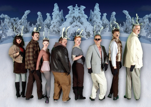 Reindeers (L to R): Samara Bridwell, James O'Hagan-Murphy, Rachel Graham, Ryan Gould, Kirsten Deane, Scott Bellot, Eric Ross and Mike Kienker
