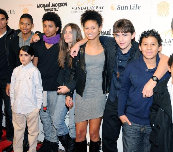 Blanket Jackson, Paris Jackson and Prince Jackson with friends