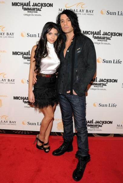 Sandra Gonzalez and Criss Angel