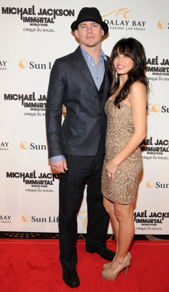 Channing Tatum and Jenna Dewan at Michael Jackson THE IMMORTAL World Tour - Red Carpet!