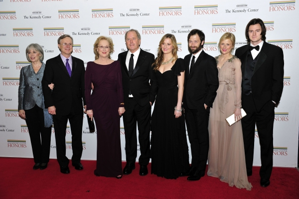 Maeve Kinkaid III, Harry Streep, Meryl Streep, Don Gummer, Grace Gummer, Henry Gummer, Mamie Gummer and Benjamin Walker
