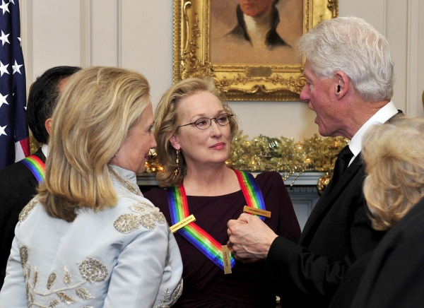 Hillary Rodham Clinton, Meryl Streep, Bill Clinton at Special Barbara Cook, Meryl Streep, Neil Diamond & More Receive Kennedy Center Honors