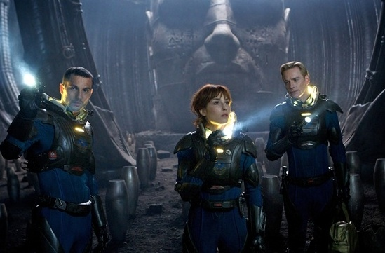 Logan Marshall-Green, Noomi Rapace & Michael Fassbender at First Look - Ridley Scott's PROMETHEUS Coming June 2012