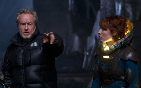 Director Ridley Scott & Noomi Rapace