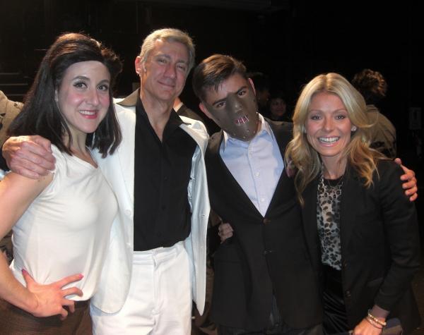 Jenn Harris, David Garrison, Michael Consuelos, and Kelly Ripa Photo