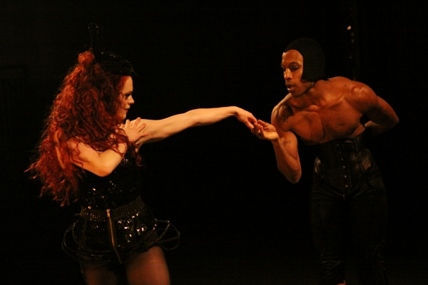 Laura Careless as the evil Queen and Davon Rainey  Photo