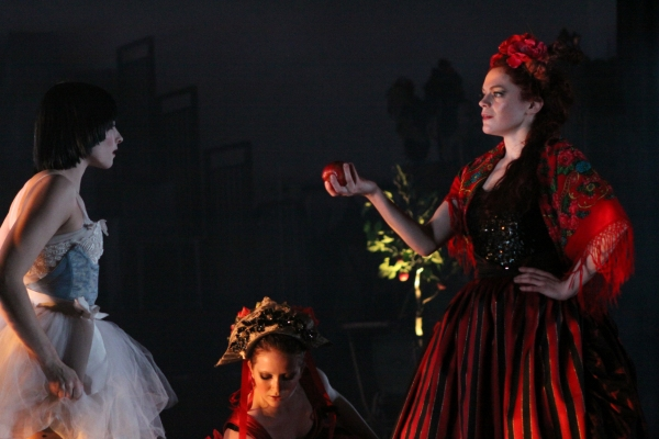 Gracie White as Snow White, Ashley Handel and Laura Careless as the evil Queen Photo