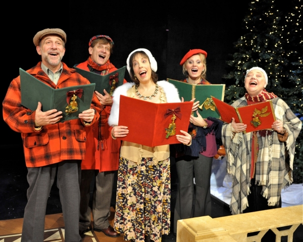 Stephen Berger, Sandy Rosenberg, Ann Van Cleave, Peter Carrier, Charlie Storck, David Edwards, Haley Swindal, Mary Stout and Hannah Dieck at Westchester Broadway Theatre's HOME FOR THE HOLIDAYS