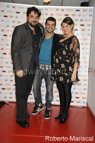 Julio Awad, Miguel Antelo e Inma Mira at Llegada de Invitados a los BWW Spain Awards 2011