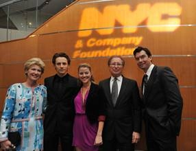 Emily Rafferty (President of Metropolitan Museum of Art); Reeve Carney (Spiderman Turn Off The Dark); Rebecca Faulkenberry (Spiderman Turn Off The Dark); George Fertitta (CEO NYC & Company); Jerry O'Connell