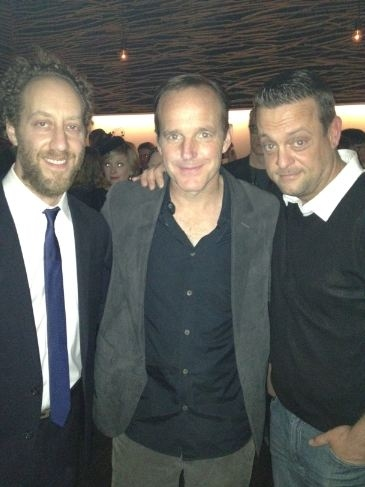 Leading men Joey Slotnick, Clark Gregg and Lenny Venito at Atlantic Theater Company's HAPPY HOUR Opens!