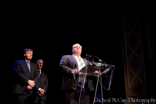 Toronto Mayor Rob Ford proclaims December 6th Ed Mirvish Theatre Day