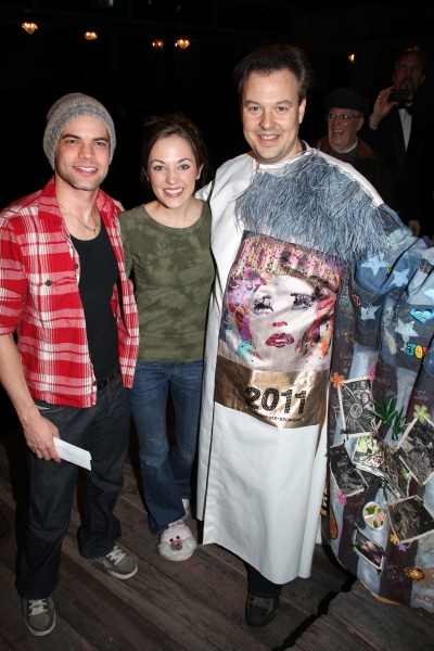 Tad Wilson ('Bonnie & Clyde' Recepient) with Jeremy Jordan & Laura Osnes