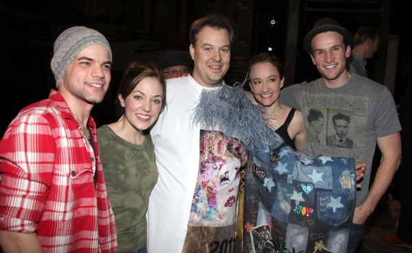 'Bonnie & Clyde' Gypsy Recepient Tad Wilson with Jeremy Jordan, Laura Osnes, Melissa Van Der Schyff, Claybourne Elder & Company