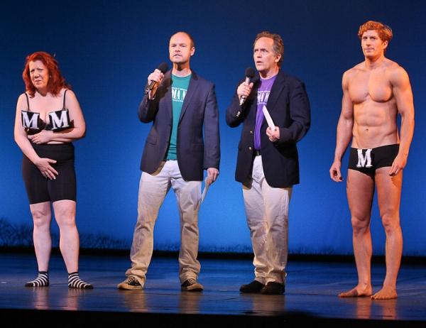Jennifer Perry, John Hemphill, David Beach and Jordan Dean in the Mamma Mia Presentation