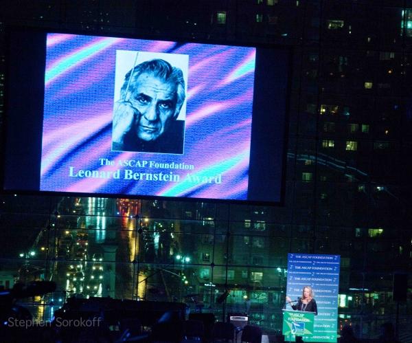 Jamie Bernstein & Leonard Bernstein at ASCAP Foundation Honors Stephen Schwartz with Richard Rodgers Award