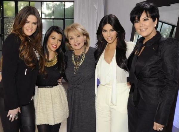 Khloe, Kourtney Kardashian, Barbara Walters, Kim Kardashian & Kris Jenner