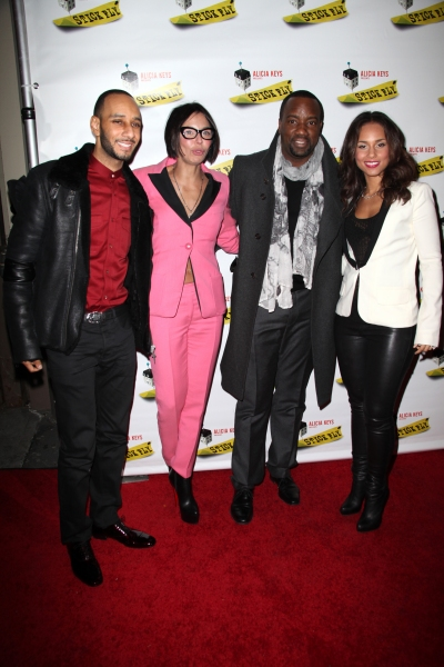 Swizz Beatz, Guest, Malik Yoba & Alicia Keys  Photo
