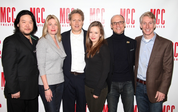 Stafford Arima, Marin Mazzie, Bernie Telsey, Molly Ranson, Will Cantler and Blake West  at Meet The Company of the New CARRIE Musical!